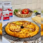 Pizza italienne au poulet fumé
